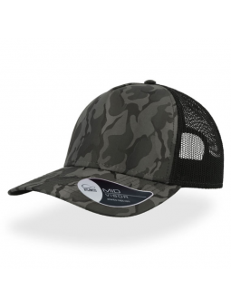 Atlantis Rapper Camo dark grey black cap