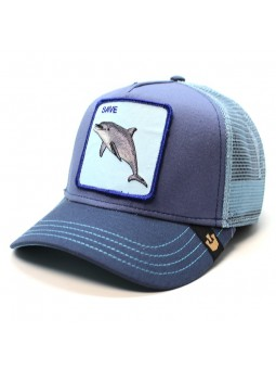 Goorin Bros Save Dolphin Patch blue trucker cap