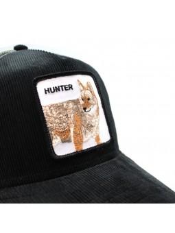 "Goorin Bros HUNTER IN WOODS ""wolf"" black/grey trucker cap"