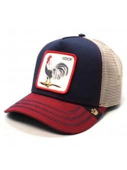 "Goorin Bros ALL AMERICAN ""GALLO"" navy/burgundy trucker cap"