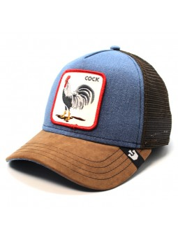 "Gorra Goorin Bros BIG STRUT ""GALLO"" trucker tejano/marron"