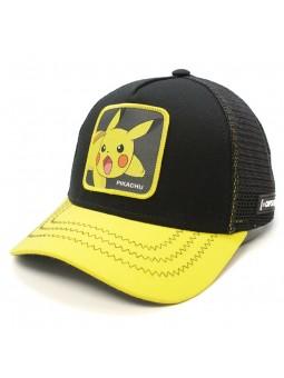 Gorra Pikachu Pokemon Capslab trucker negro amarillo