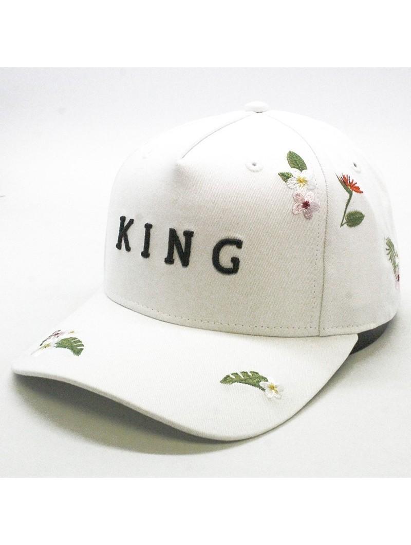 Gorra KING Stepney curved blanca