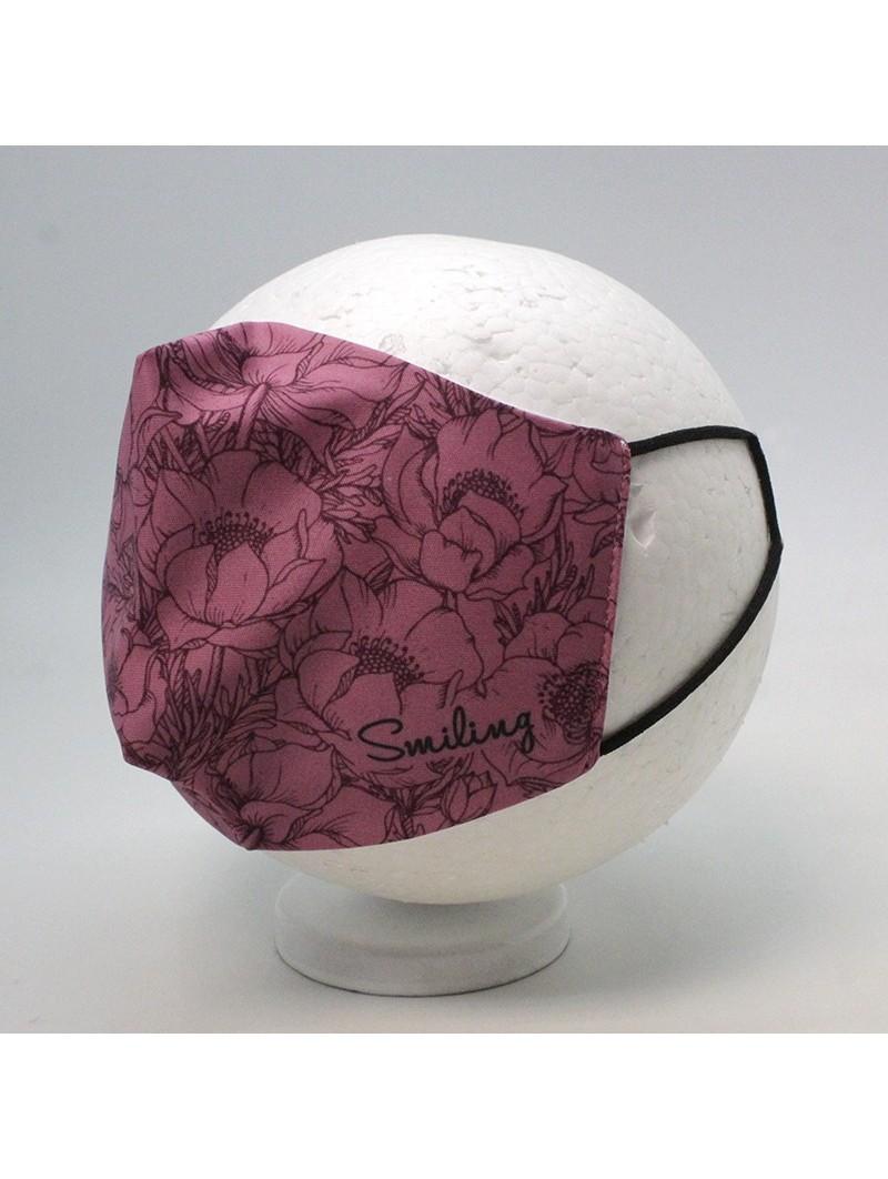 Reusable Hygienic Mask Nisko Smiling Flowers Woman / Junior