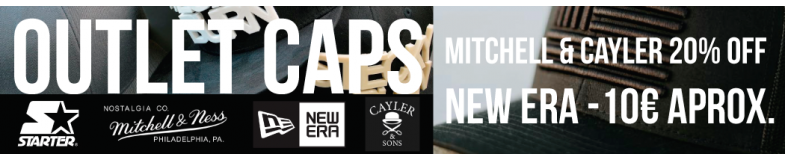 Sale Caps and Accessories Outlet Prices of New Era, Mitchell, Cayler