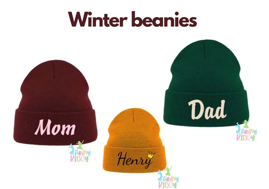 customized winter hats