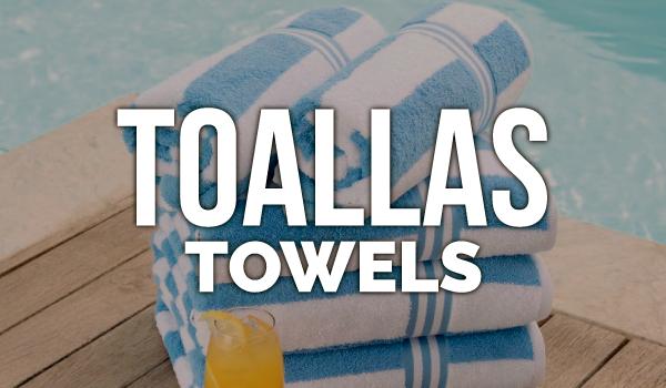 venta de toallas para playa y baño